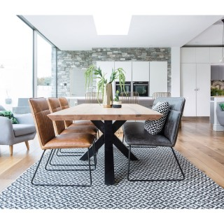 Brixton Table, Bench and Three Chairs Dining Set
