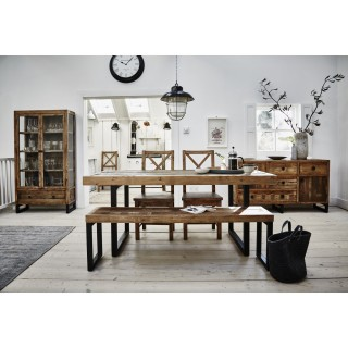 Stockholm Table, Bench and Four Chairs