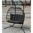 Innovators Eleanor Double Hanging Cocoon Rattan Garden Chair, Grey