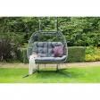 Eleanor Double Cocoon Garden Hanging Chair, Grey