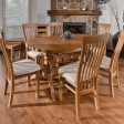 Casa Windsor Oval Extending Table & 6 Dining Chair Set
