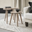 Casa Ottawa Nest Of Lamp Tables, Scandi Oak