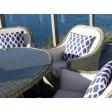 Bramblecrest Outdoor Cushion, Blue Trellis