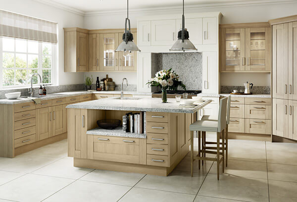 Sheraton Sand Oak Wood Shaker Kitchen