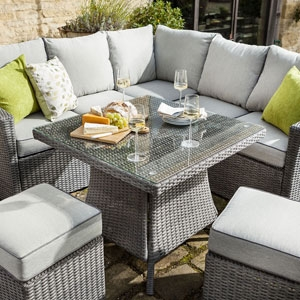 Square Outdoor Casual Dining Set