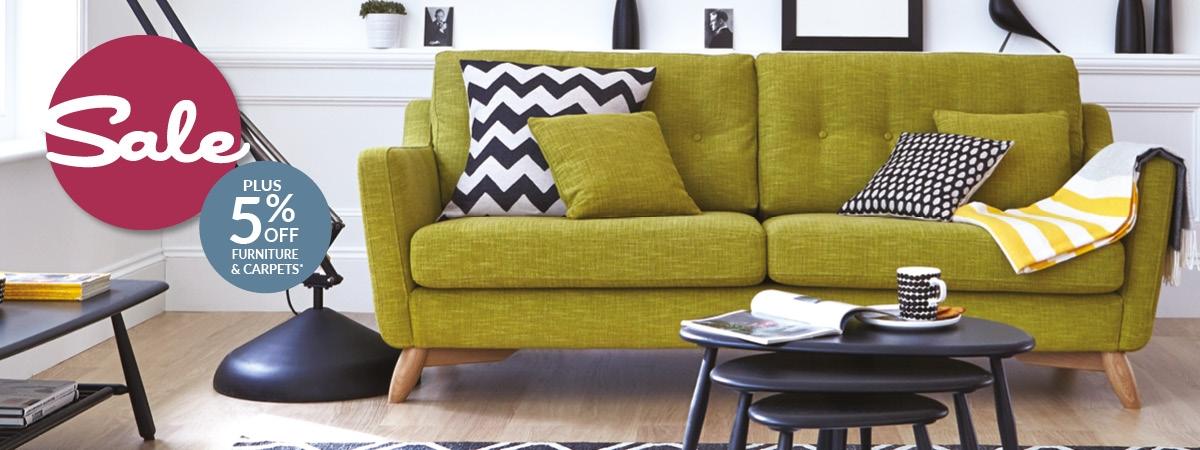 Sale plus 5% off Furniture & Carpets