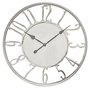 Kensington Wall Clock, Silver